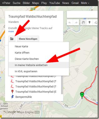 Google Meine Tracks 2.0.7 - In Website einbetten