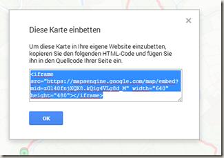 Google Meine Tracks 2.0.7 - iFrame Code abrufen