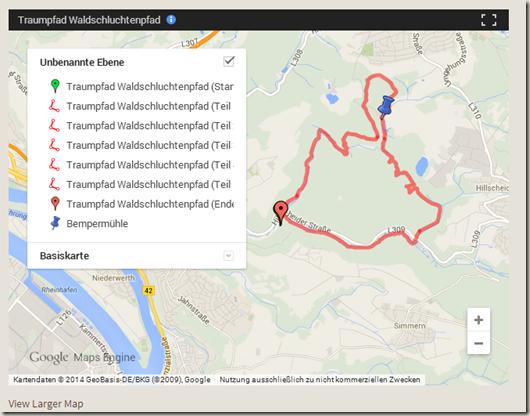 Google Meine Tracks 2.0.7 - neue Kartendarstellung