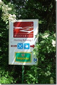 Rheinsteig Sayn - Vallendar - Wegweiser Wüstenhof