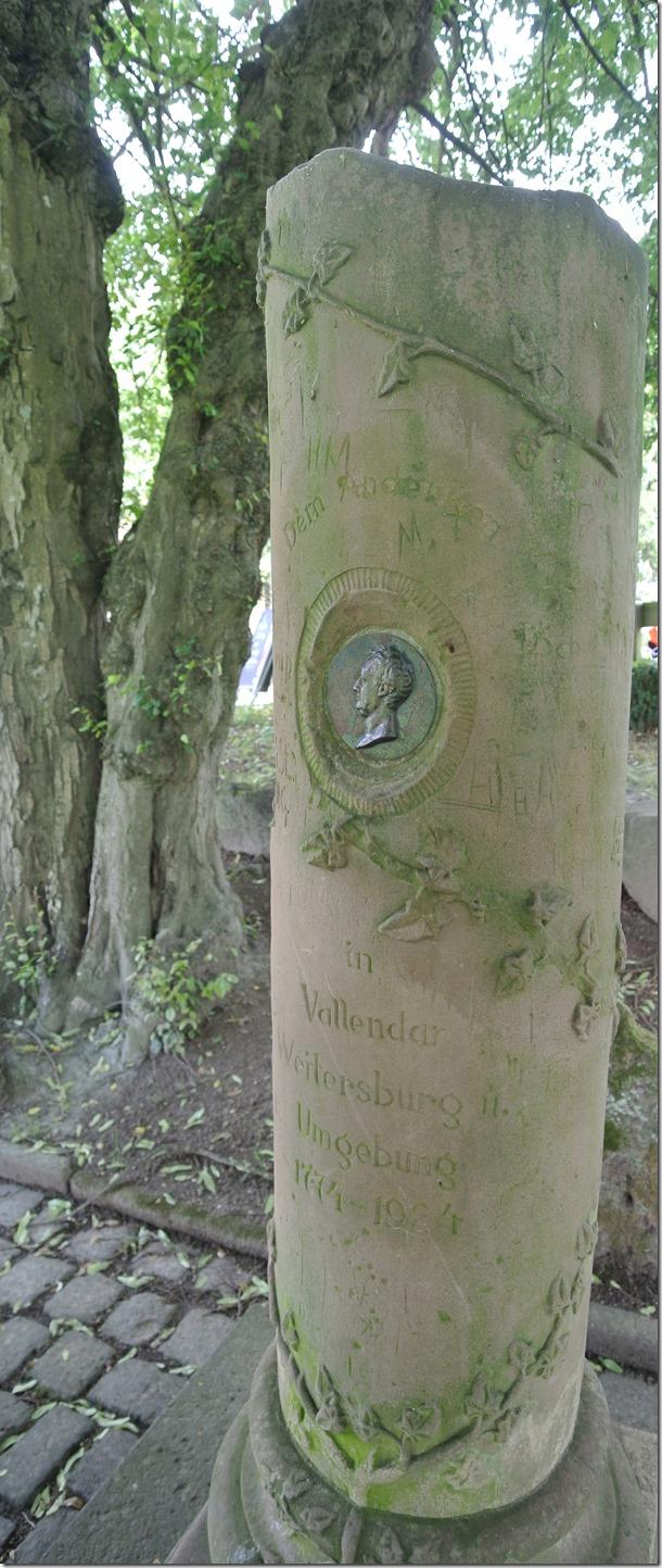 Rheinsteig Sayn - Vallendar - Goethe-Säule