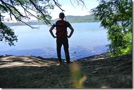 Laacher See: Geopfad L - Blick über den See
