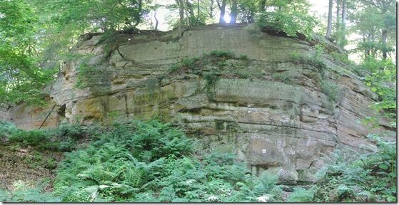 Laacher See: Geopfad L - Gesamtansicht Steinbruch
