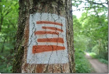 Moselsteig Treis-Karden - Moselkern - Kennzeichnung Zuweg