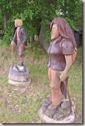 Fürstenweg - Holzfiguren