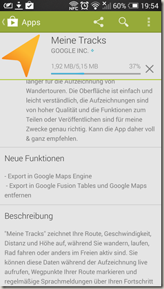 Google Meine Tracks 2.0.7 - Play Store 1