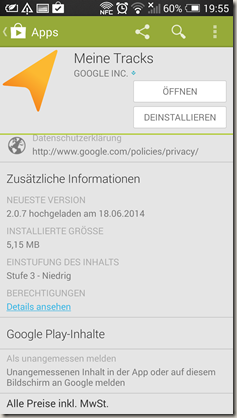 Google Meine Tracks 2.0.7 - Play Store 2