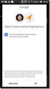 Google Meine Tracks 2.0.7 - Freigabe Maps Engine