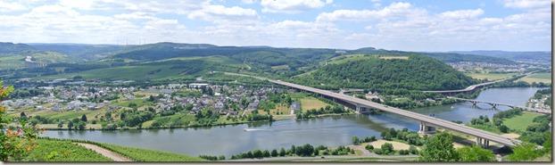 Moselsteig Schweich - Mehring - Schweich und Brücken