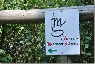 Seitensprung Mehringer Schweiz - Wegemarkierung