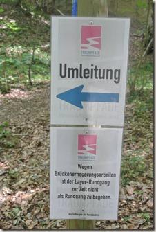 Traumpfad Vier-Berge-Tour - Umleitungsschild