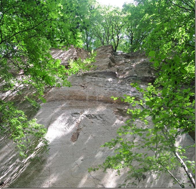 Traumpfad Vier-Berge-Tour - Layfelsen, Blick nach oben