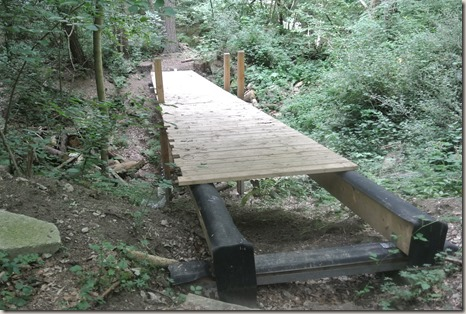 Traumpfad Vier-Berge-Tour - Brückenbaustelle