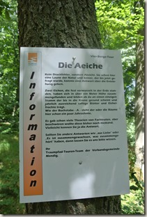 Traumpfad Vier-Berge-Tour - Hinweisschild A-Eiche