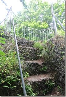 Traumpfad Vier-Berge-Tour - Treppe zum Aussichtsfelsen