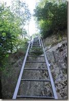 Traumschleife Mittelrhein Klettersteig - Zwei Leitern - Blick zurück