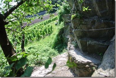 Traumschleife Mittelrhein Klettersteig - Blick zurück auf die Passage