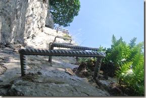 Traumschleife Mittelrhein Klettersteig - Stahlsprossen nach oben