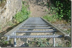 Traumschleife Mittelrhein Klettersteig - Stahlleiter (Detail)