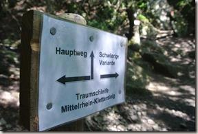 Traumschleife Mittelrhein Klettersteig - Immer wieder diese Entscheidungen