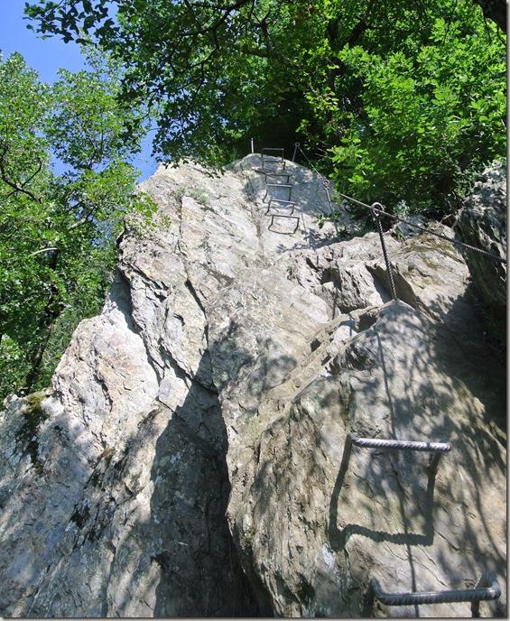 Traumschleife Mittelrhein Klettersteig - Da muss man rauf