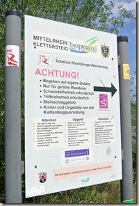 Traumschleife Mittelrhein Klettersteig - Sicherheitshinweise