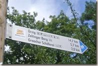 Moselsteig Bernkastel-Kues-Zeltingen - Hinweisschild Moselsteig