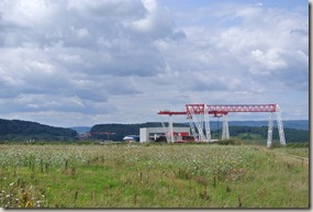 Moselsteig Bernkastel-Kues-Zeltingen - Baustelle auf der Hunsrückseite