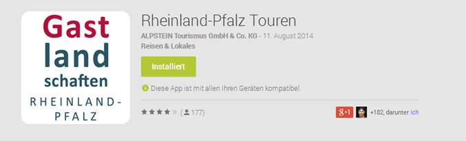 Rheinland-Pfalz Touren App - Play Store Screenshot