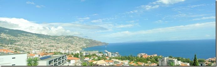 Madeira Wanderung - Aussicht vom Hotel Madeira Panoramico