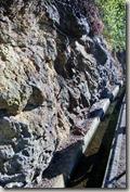 Madeira Wanderung - Levada im Fels