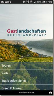 Rheinland-Pfalz Touren App - altes Menü