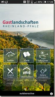Rheinland-Pfalz Touren App - neues Menü