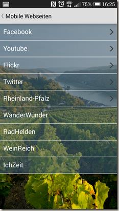 Rheinland-Pfalz Touren App - Community Auswahl