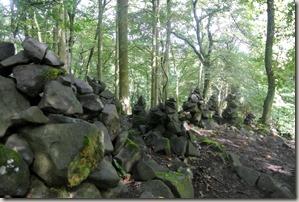 Traumpfad Hochbermeler - Steinhaufen an Steinhaufen