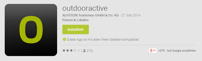 Outdooractive App - Google Play Store