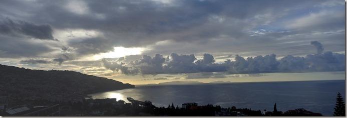 Madeira Wanderung Caldeirao Verde - Blick bei Abend