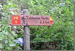 Madeira Wanderung Caldeirao Verde - Wegweiser