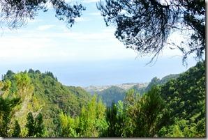 Madeira Wanderung Caldeirao Verde - Blick aufs Meer