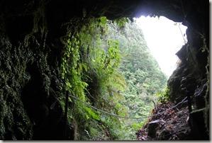 Madeira Wanderung Caldeirao Verde - Tunnel-Ausblick