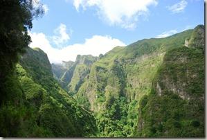 Madeira Wanderung Caldeirao Verde - Blick ins Tal