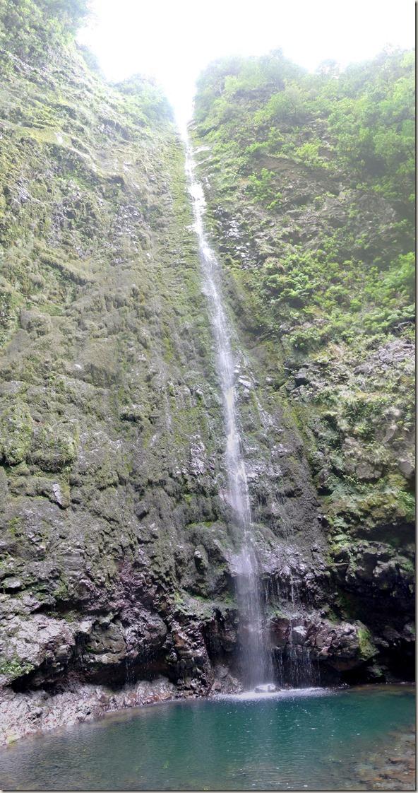 Madeira Wanderung Caldeirao Verde - Wasserfall