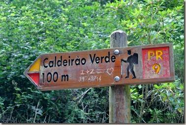 Madeira Wanderung Caldeirao Verde - letzter Wegweiser