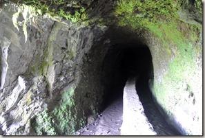 Madeira Wanderung Caldeirao Verde - einer der Tunnel