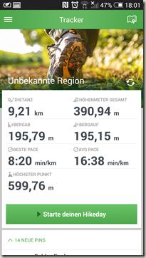 MAPtoHIKE - Statistikdaten der Wanderung