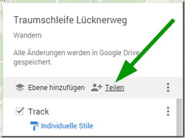 Google MyMaps in Drive - Karte teilen
