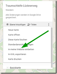 Google MyMaps in Drive - Code anfordern