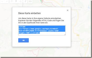 Google MyMaps in Drive - Einbettencode (iFrame)