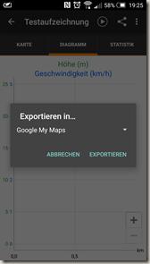 Meine Tracks 2.0.9 - Exportdialog