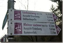 Traumschleife Lücknerweg - Wegeweiser